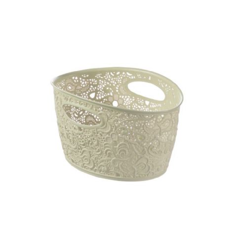 Curver Victoria Lace Bathroom Storage Basket 7L